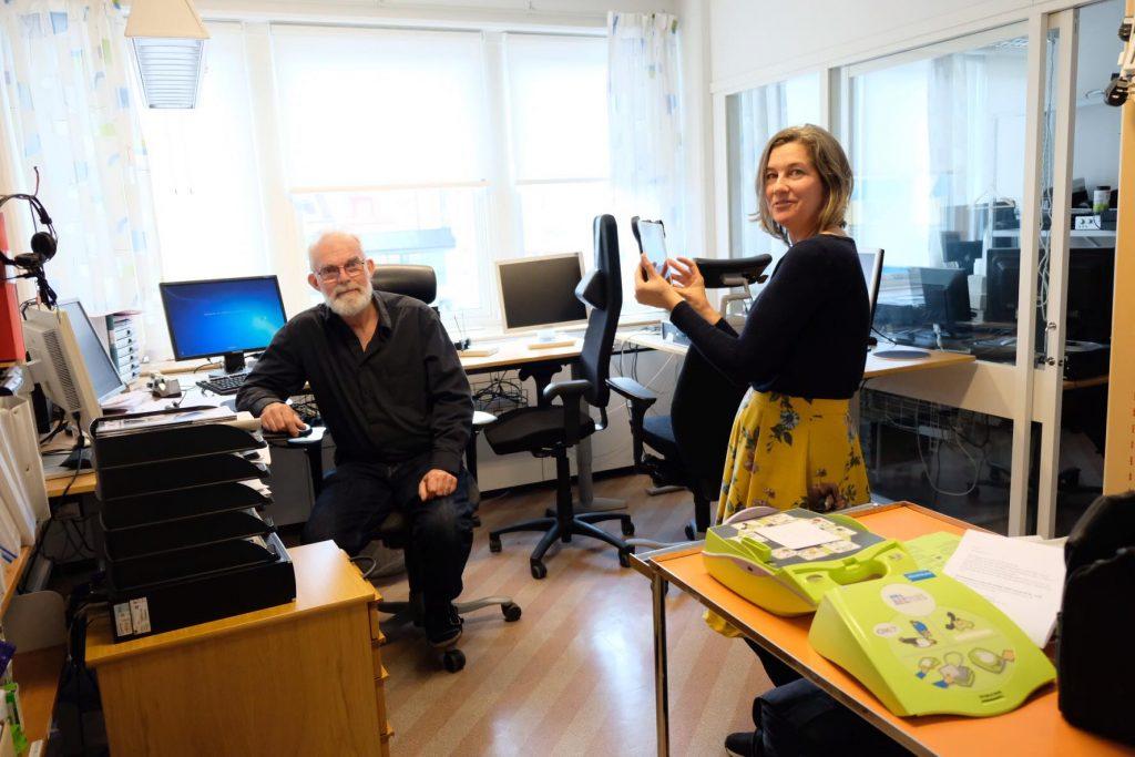 AV Media Kalmars nestor Max Albien och Malin